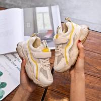 夏季儿童运动鞋跑步休闲鞋男童女童鞋魔术贴三色