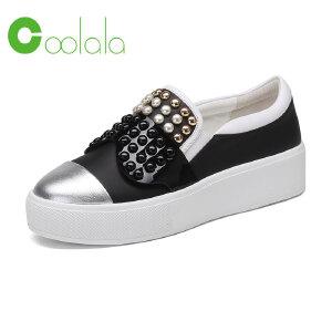 红蜻蜓旗下品牌COOLALA女鞋秋冬休闲鞋板鞋女鞋子HGB7011
