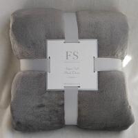 冬季毛毯加厚珊瑚绒床单单件短毛绒双面加绒垫单双人法兰绒毯子被 银色 纯色灰色