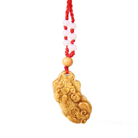 木质貔貅 桃木貔貅男士项链 女士吊坠木雕皮丘钥匙扣挂件