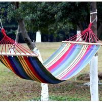 休闲必备木棒吊床   加厚 加粗 野营用品 特价   时尚多彩花色 双人 网状