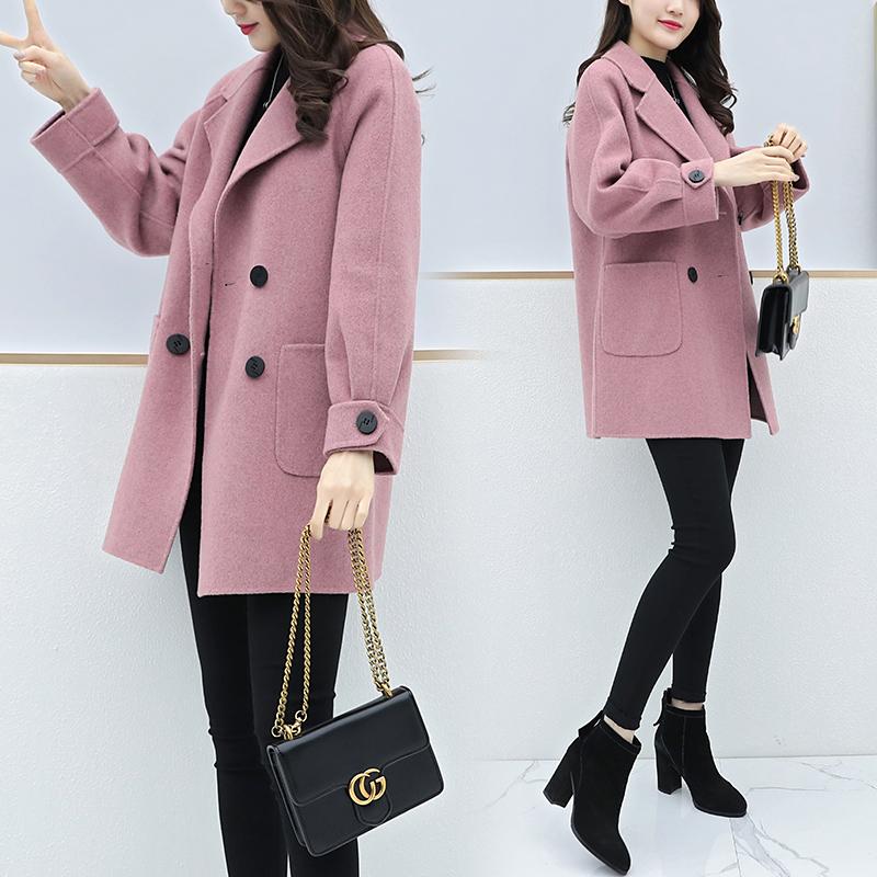 安妮纯反季特价大衣女韩版2020秋冬小个子流行毛呢外套中长款茧型呢大衣 经典版型,不挑身材肤色年龄,百搭显瘦