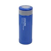 不锈钢竹节杯保温杯杯子瓶便携水杯水杯户外茶杯女士便携杯子便携水杯学生杯350ML水杯杯子 蓝色
