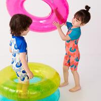 【秒杀价:122元】马拉丁童装男女童泳衣2020夏装新款印花弹力拉链设计连体泳装