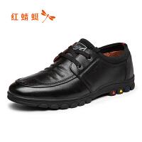 红蜻蜓男鞋休闲皮鞋秋冬休闲鞋子男WAA7801