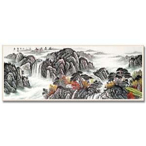 广州知名山水画家 万勇2.4米精品山水《源远流长》