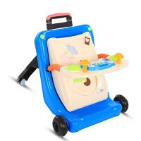 学步车手推车婴儿学步防侧翻多功能宝宝学走路助步车小孩可调速推推车