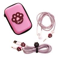 vivo小米oppo华为苹果数据线保护套手机充电器缠绕绳耳机绕线器保护绳充电线收纳盒可爱卡通创意贴纸