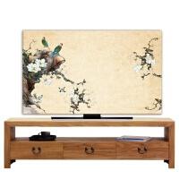 电视机罩挂式台式曲面液晶电视机防尘罩55寸65寸75寸电视防尘罩布k 以上