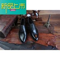 新品上市固异手工皮鞋经典三接头真皮男鞋商务低帮男鞋定制鞋牛皮底定做