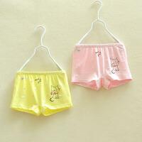 女童内裤小中大儿童平角内裤两条装幼儿园小学生四角短裤