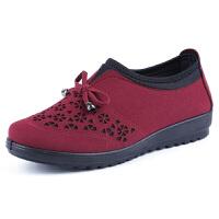 春秋老北京布鞋女妈妈鞋平底中老年平跟单鞋奶奶鞋老人休闲鞋