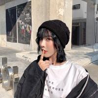 毛线帽子女冬韩版潮流包头帽保暖针织帽时尚堆堆帽逛街好搭时装帽