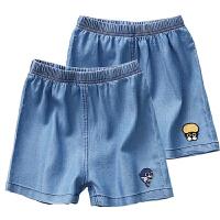 春夏童装牛仔短裤子薄款男童五分裤女童热裤沙滩儿童短裤