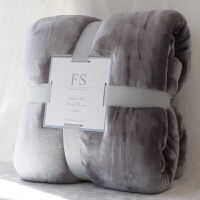 珊瑚绒床单单件法兰绒毯冬季加厚双面毛绒毛毯双人床毯子垫单k 灰色 灰色
