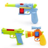 贝贝鸭1-3岁幼儿玩具枪儿童发声光卡通小枪耐摔耐用