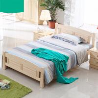 全实木儿童床实木床芬兰松木家具男孩女孩单人床1米床1.2米小床