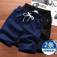 2件装】短裤男士薄款宽松大码5分裤男纯棉运动裤潮4XL大裤衩中裤555
