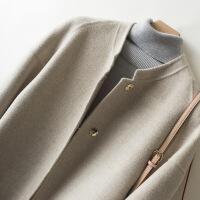 2019新款毛呢大衣羊绒大衣女秋冬季呢子毛呢外套中新款加厚羊毛呢