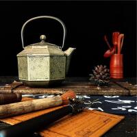 八角煮水茶壶生铁壶铸铁公司年会礼品套装铸铁泡茶烧水壶煮茶器电陶炉茶炉功夫茶具套装