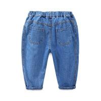 宝宝哈伦牛仔裤 夏装男童童装儿童系绳七分裤