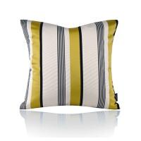 极简/样板房/沙发床头/抱枕靠垫/条纹三色丝光居家软装靠枕 黄色