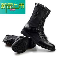 新品上市男靴子冬季加绒保暖棉鞋高帮英伦雪地靴中帮18马丁靴男 黑色 A501(单靴)