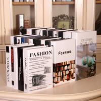 现代简约仿真书假书装饰书模型书盒书房家居摆件咖啡厅客厅装饰品 200本现代不重复