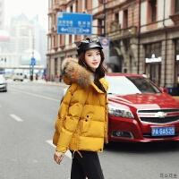 羽绒女2018冬季新款短款韩版宽松时尚百搭面包服棉袄棉衣外套