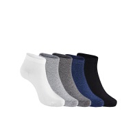 网易严选 3双/5双装 男式基础纯色抑菌船袜