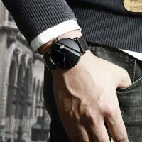 手表男防水超薄新款虫洞概念机械表学生韩版简约潮流休闲男士男表