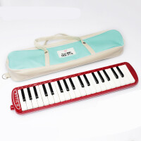 孔声口风琴37键学生儿童初学者教学课堂口风琴演奏练习口风琴 红色