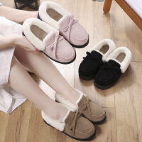 棉拖鞋女加厚保暖棉拖室内外穿家用防滑居家毛绒产后月子包跟拖鞋