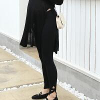 孕妇打底裤春季外穿新款时尚孕妇装九分托腹小脚孕妇裤子春秋