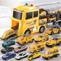 小汽车模型套装儿童玩具车合金男孩各类消防车工程0-3岁2小孩男童
