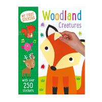 My First Stickers Woodland Creatures 启蒙森林动物贴纸活动书 进口英文原版 儿童贴