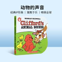 99选5 英文原版绘本 大红狗克利弗德 Clifford's Animal Sounds 动物的声音 纸板书