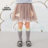 【3件7折价:258.3元】马拉丁童装女大童腰裙春装2020年新款百搭短裙半身裙儿童裙子