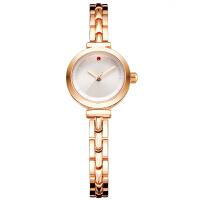 新款女士手表防水时尚玫瑰金潮流学生韩版简约链女士手表