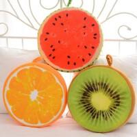 创意3D水果靠垫 大号 小号 西瓜 猕猴桃 坐垫 沙发靠枕 抱枕 家居用品