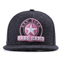 韩版遮阳帽子棒球帽女男士嘻哈帽潮街舞平沿帽毛呢鸭舌帽情侣