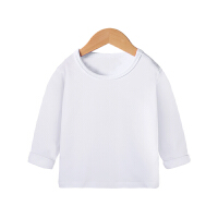 儿童长袖T恤春秋装纯色男女童打底衫小童学生上衣潮