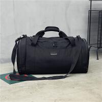新品手提旅行包男大容量短途出差旅游行李包鞋位健身运动包训练包 黑色