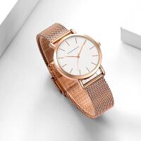 日本2035机芯32mm防水石英表 女士时尚精钢网带手表