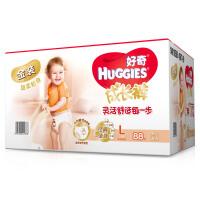 [当当自营]Huggies好奇 金装成长裤 拉拉裤 男女通用 箱装大号 L88片