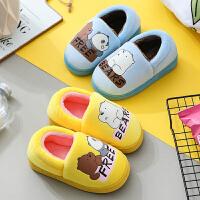 儿童拖鞋冬季女童室内居家宝宝防滑男孩包跟中大童小孩棉拖鞋