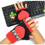 新款时尚韩版保暖可爱卡通女士潮款半指手套