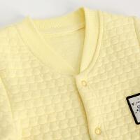 婴儿夹棉连体衣冬季款 宝宝保暖哈衣 新生儿长袖衣服加厚