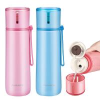 大容量保温杯不锈钢水杯女士茶杯可爱便携儿童泡茶学生杯子