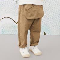 【秒杀价:153元】马拉丁童装男小童裤子春装2020年新款宽松棉布长裤儿童裤子